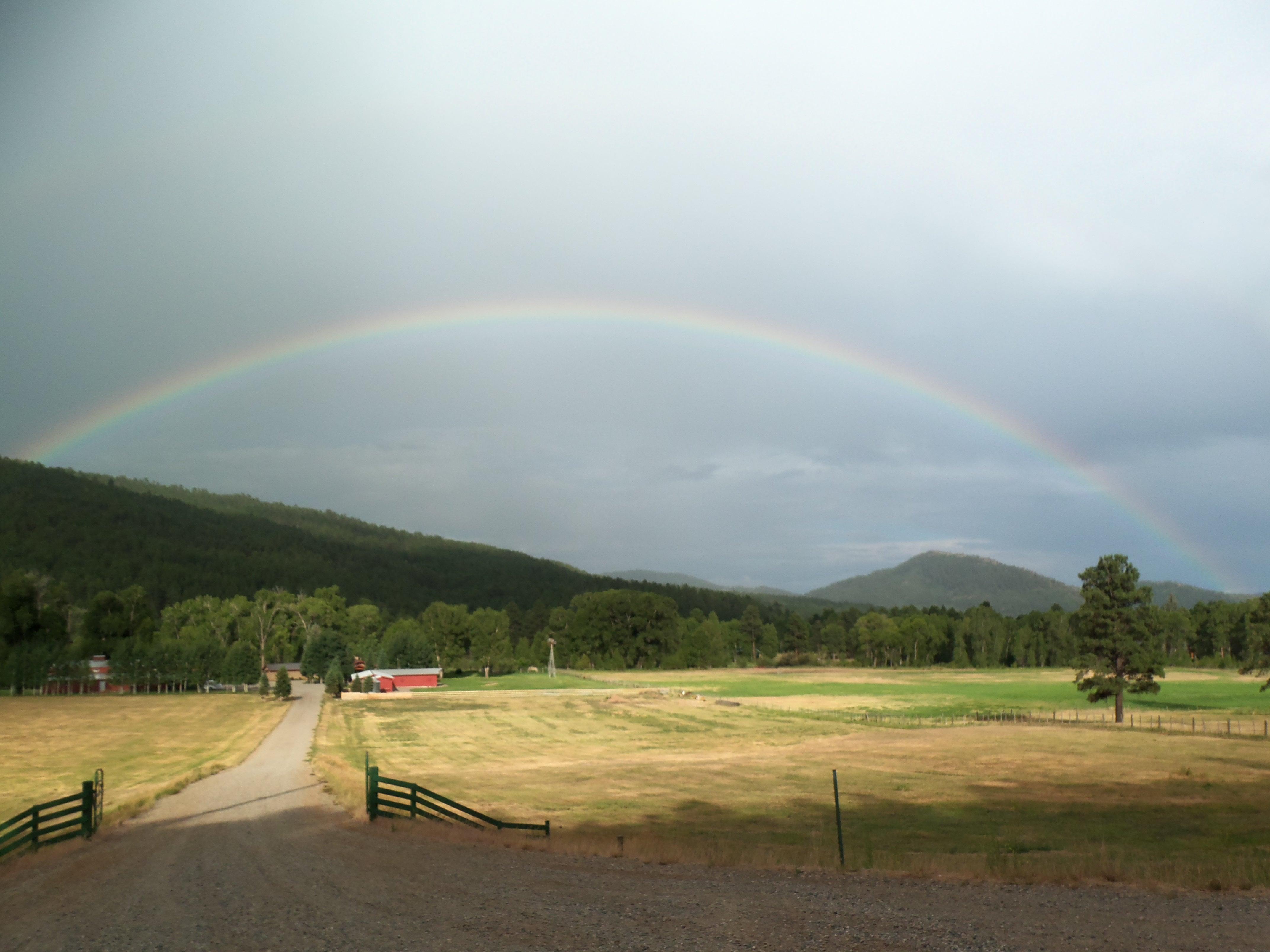 rainbow at Vallecito; Glenda Taylor; OneAndAllWisdom.com; CC2.0