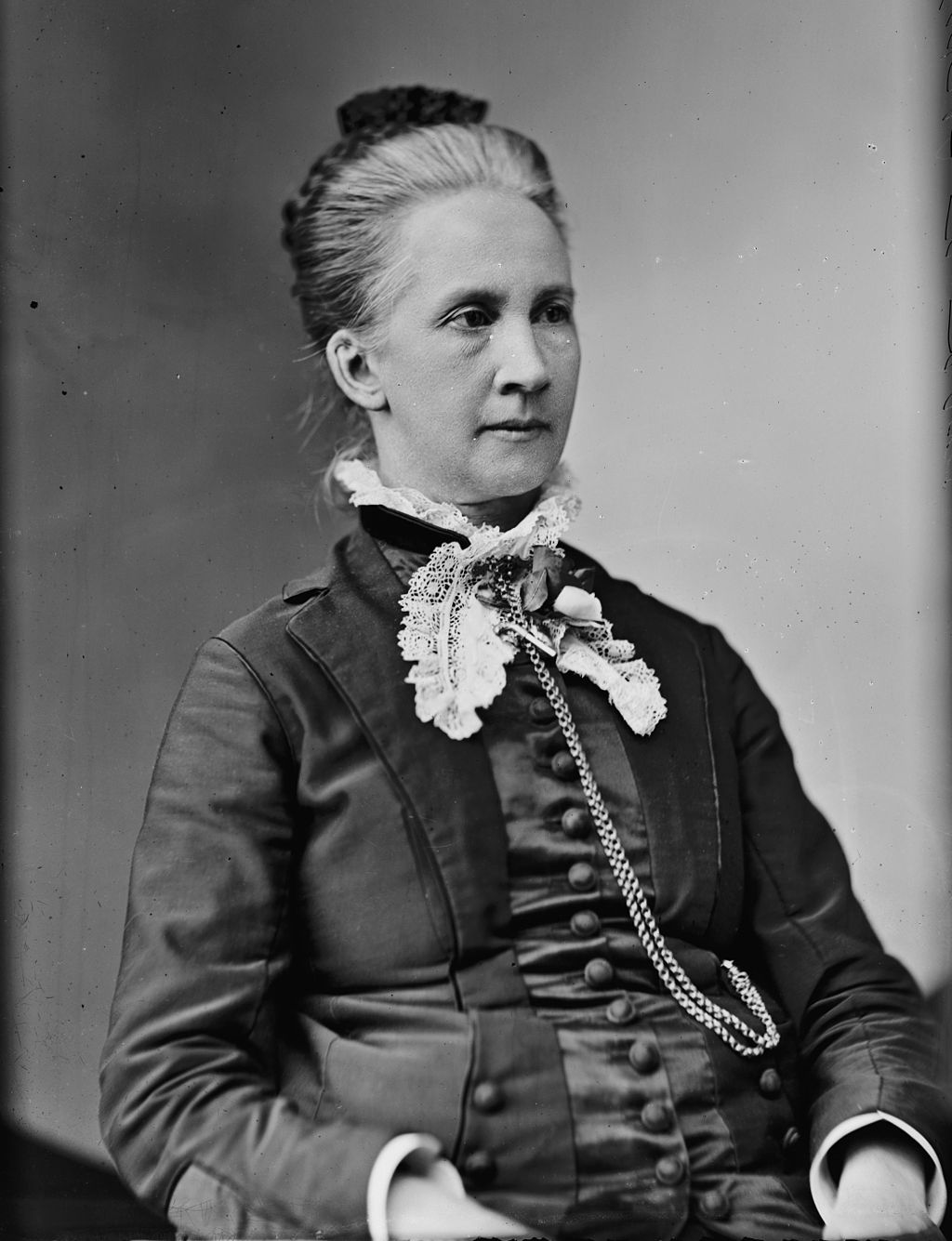 Belva Lockwood. This work is from the Brady-Handy collection at the Library of Congress. Public Domain
