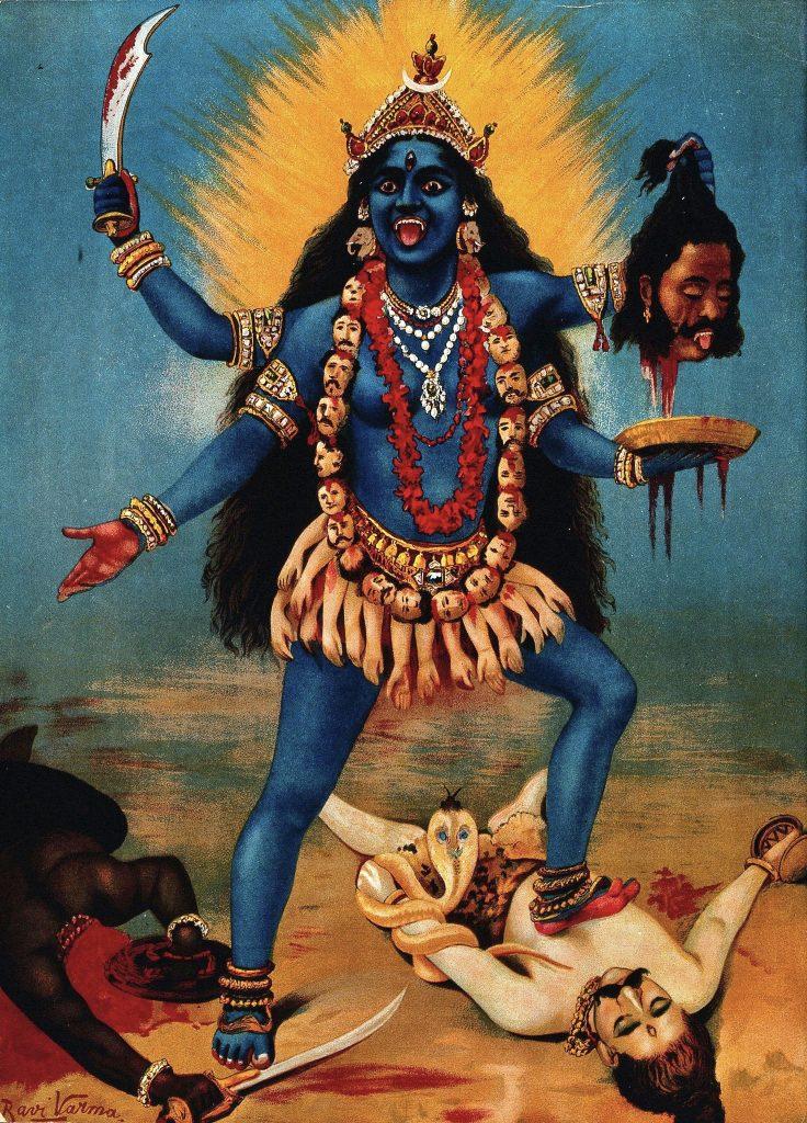 Kali by Raja Ravi Varma, Public Domain, via Wikimedia