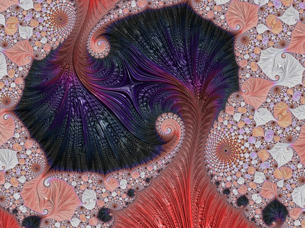Centering, pink and purple spirals