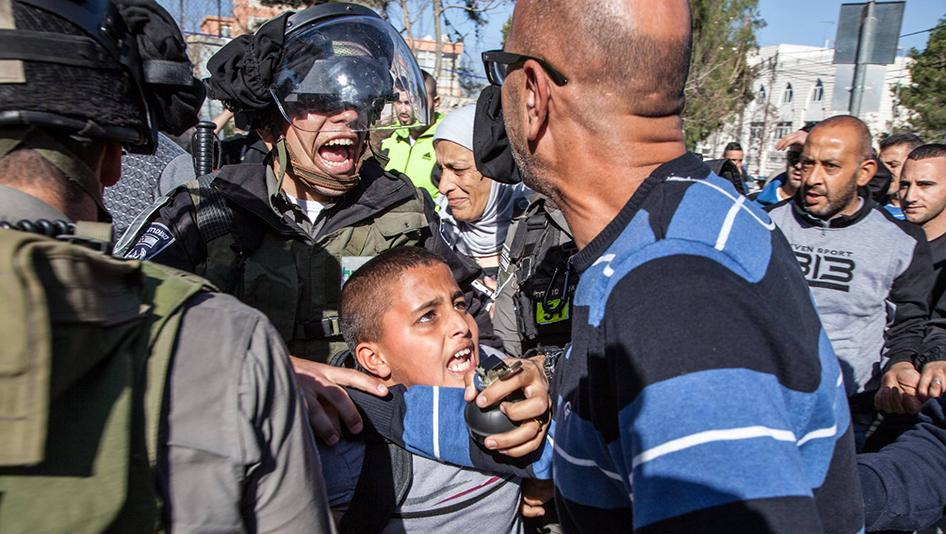 Palestinian Child Arrested by Israeli Police Image © Majd Gaith Via Human Rights Watch