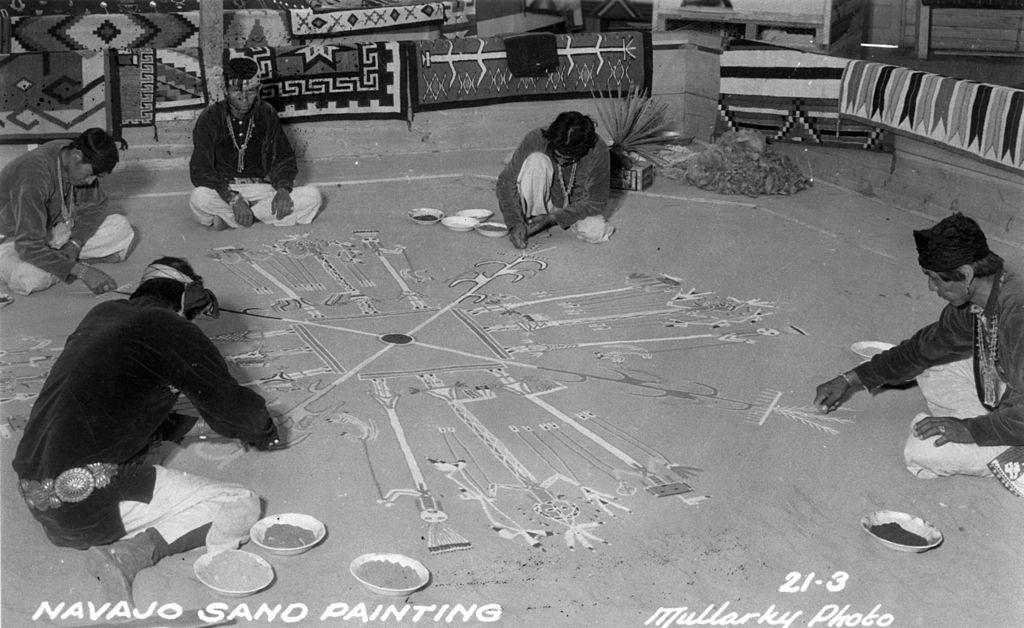 Navajo Sandpainting via Wikimedia, Public Domain