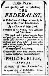 Federaist Papers, 1787, Public Domain