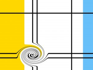 Graphic Stock image inspired by Mondrian