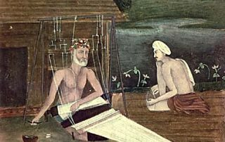 Kabir, 1825 Painting of Kabir Weaving, Public Domain